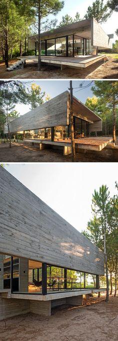 Ngôi nhà được tạo nên từ những khối bê tông và kính ở Argentinian