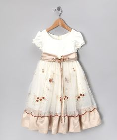 Take a look at this Champagne Bouquet Sash Dress - Toddler & Girls by Cinderella Couture on #zulily today!