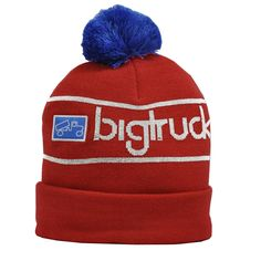 9dfa21f646b Wear it folded or unfolded Pom on top bigtruck icon logo One size fits most  Acrylic blend