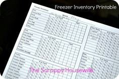 The Scrappy Housewife: Using a Freezer Inventory (Free Printable!)