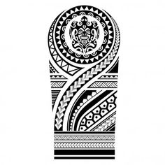 Polynesian tattoo sleeve pattern vector, samoan forearm and foot design, maori bracelet armband tattoo tribal, band fabric seamless ornament - illustration . Maori Tattoos, Native Tattoos, Maori Tattoo Designs, Tattoo Sleeve Designs, Tattoo Designs For Women, Sleeve Tattoos, Tattoo Sleeves, Xoil Tattoos, Octopus Tattoos
