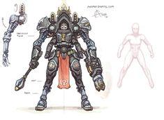 Warhammer 40k Art, Warhammer Models, Chaos Dreadnought, Character Concept, Character Design, Character Art, Android Art, Rogue Traders, Dark Eldar