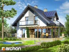 Projekt: Dom w rododendronach (N) ver.2 Wizualizacja widok 2