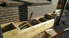 Making the planter boxes and seats