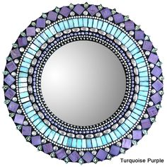 10in Round Mosaic Mirrors by Zetamari Mosaics | Sticks Furniture, Home Decorative Accents