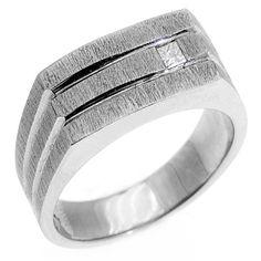 Square Cut Diamond Ring Groom Wedding Rings Bands Bridal Stuff Men S Jewelry Fashion Rolex