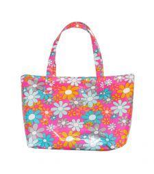Small shopping bag coated cotton Grenadine rose - Petit Pan Sacs D école,  Sac af3da1b1722