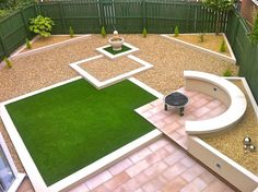 Synthetic Turf contemporary garden   Low maintenance