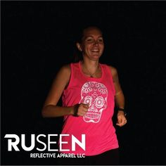 b420eea7 Reflective Sugar Skull tank top by RUseeN Reflective Apparel Skull Tank Tops,  Skull Logo,