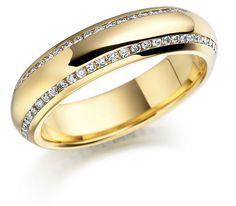 Bien diamond gold wedding ring