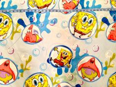 SpongeBob Fabric  Polyester  Different Sizes by SewingUniverse