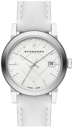 Burberry White Impressed Check Dial White Leather Strap Ladies Watch * To view further for this item, visit the image link. (This is an affiliate link) Burberry Watch, Stainless Steel Case, White Leather, Fashion Jewelry, Designer Watches, Watch Women, Continue Reading, Silver, Image Link