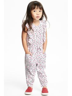 Patterned Ruffle-Trim Romper for Toddler  | Old Navy