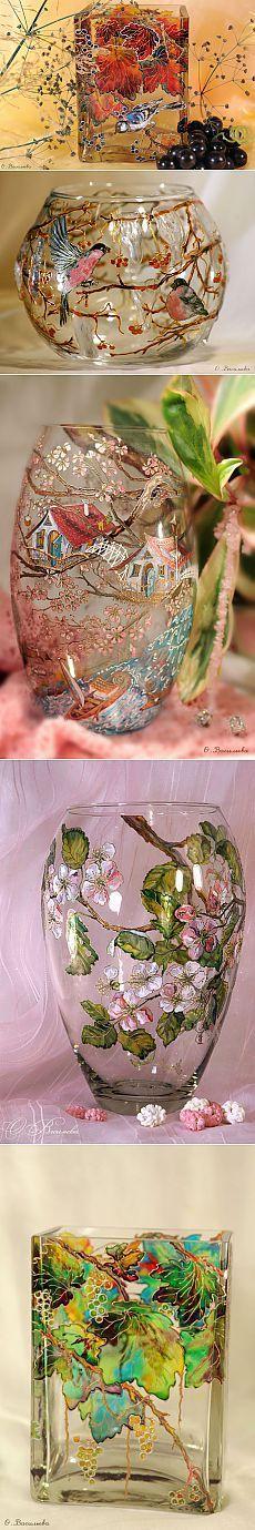 Оксана Васильева - Фантазии на стекле в технике «Витражная роспись»