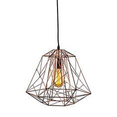 Pendelleuchte Framework Vintage Industrie kupfer - für LED geeignet - http://led-beleuchtung-lampen.de/pendelleuchte-framework-vintage-industrie-kupfer-fuer-led-geeignet/ #Pendelleuchten #QAZQA