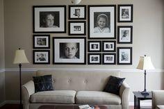 family photo display by trisha