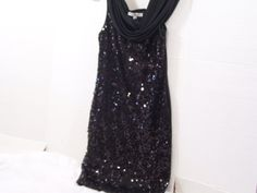 Rich Black Sequin Dress Moa Moa Special Occasion by #cachecastle