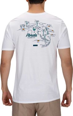Update your home state tee collection with the Hurley® Men's Florida 3D Mapstee T-Shirt. Made with soft 100% cotton fabric, this modern short sleeve top is built with a premium fit, crew neckline and soft hand Florida screen printed design for year round style. Fit Men's short sleeve t-shirt Premium fit Crew neckline Additional Details Made out of comfortable 100% cotton 125G 30 singles fabric Soft hand screen print design Icon clip label Machine Wash Cold/Wash Separately/Do Not Bleach/Line Dry/ Icon Design, Print Design, Shirt Print, T Shirt, Label Machine, Styles P, Fit Men, Hurley, Mens Fitness
