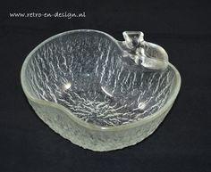 Appelschaal glas, met blad