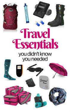 It is a new year. Maybe you have decided to travel more this year. Here are the best travel essentials you need right now. #travelessentials