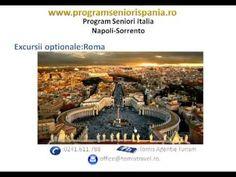 Program seniori Italia Napoli-Sorrento.  Descopera destinatia perfecta pe www.programseniorispania.ro #seniorvoyage Sorrento, Programming, Italia, Rome, Travel, Computer Programming, Coding