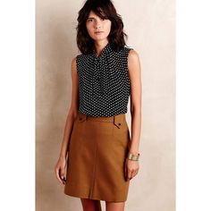 One Fine Day Halsey Tie-Neck Shell ($50) via Polyvore featuring tops, see through tops, brown neck tie, neck-tie, brown necktie and tie neck tie