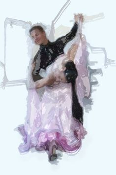 Dancing couple by Wil Kouwer