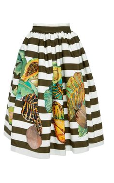 Shop Malto Hand Painted Stripe Silk Skirt by Stella Jean for Preorder on Moda Operandi