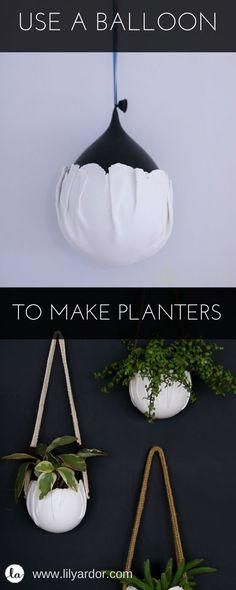 Wrap clay around a balloon to make wall pots!