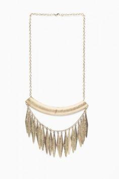 tribal fringe necklace
