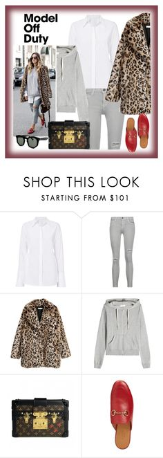 """Leo or leopard"" by krista-zou on Polyvore featuring Gucci, Current/Elliott, American Vintage, Louis Vuitton and Grey Ant"