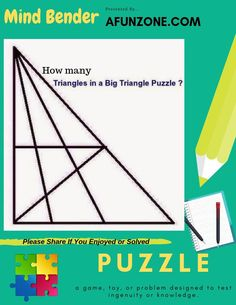 How Many Triangles In The Big Triangle? #Mindbender #brainteaser #puzzle #triangle #howmany #counting #IQ