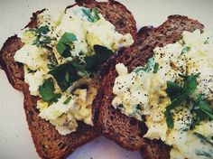 I was inspired by a recipe from Heidi Swanson in her book, Super Natural Every Day, called Open Face Egg Sandwich. It supplements mayonnaise with plain yogurt. I love a good mayo, but this recipe makes it easy at work because I don't need to go out and buy a whole tub of mayonaise. Plus the yogurt gives the dish a nice tang.   My mum (mom) taught me add a pinch of curry and stir through. Delicious.  Here's how I made it today:  1. Hard boil eggs the night before.  2. Peel and transfer to