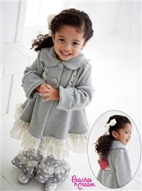 Peaches'n Cream - Cream Puffs Fleece Coat with Lace <3