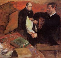 Pagan and Degas' Father - Edgar Degas