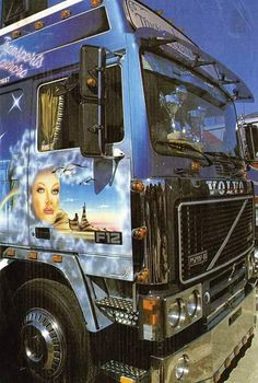 Show Trucks, Volvo Trucks, Cars, Retro, Airbrush, Vehicles, Badass, Air Brush Machine, Rolling Stock