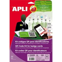 Comprar 10 hojas Kit códigos QR para identificadores 12435  #kits #codigo #QR