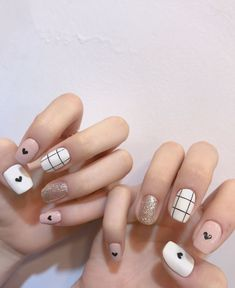 140 amazing spring nail art designs ideas to try – page 28 Stylish Nails, Trendy Nails, Cute Nails, My Nails, Spring Nail Art, Spring Nails, Asian Nails, Korean Nail Art, Minimalist Nails