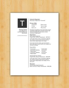 Instant Resume Templates Professional Resume Template Pack Of Two  The Draper & Daniels