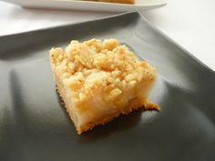 Pear Cardamom Crumb Bars | pastry studio