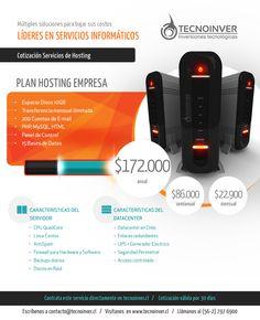 Diseño de cotización gráfica para servicios de hosting en Tecnoinver.cl