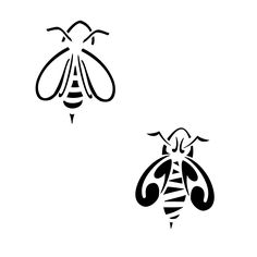 TATTOO TRIBES: Tattoo of Bee, Social, industrious tattoo,bee social industrious sociability tattoo - royaty-free tribal tattoos with meaning Honey Bee Tattoo, Bumble Bee Tattoo, Tattoo Design Drawings, Tattoo Designs, Tattoo Ideas, Bee Outline, Bee Sketch, Thistle Tattoo, Sting Like A Bee