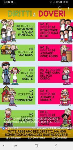 Diritti e doveri Back To School Activities, School Fun, English Grammar, Teaching English, Desperate Housewives, Italian Language, Learning Italian, Life Skills, Problem Solving