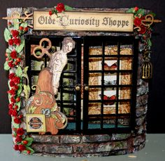 Olde Curiosity shoppe cabinet by Leonie on Ning #graphic45