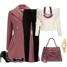 Carven coats, GUESS ankle booties and Gucci shoulder bags.