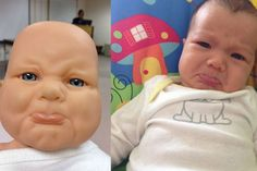 Baby on the left is a doll from our parenting class in February. Baby on the right is our daughter who was born 2 months later. February Baby, Best Funny Photos, You Funny, Funny Stuff, Parenting Classes, Funny Stories, 2 Months, New Baby Products, Funny Quotes