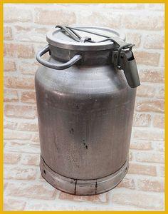 カントリー雑貨 アンティークレトロミルク缶牛乳 ガーデニング インテリア 家具 Antique milk tank ¥6980yen 〆05月06日