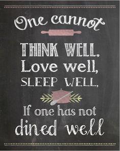 Kitchen Printable - Virginia Woolfe Quote {www.homemadeinterest.com} @hminterest