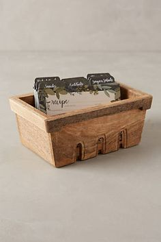 Recipe Box & Cards Collection