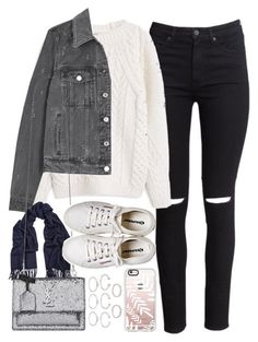 """""""Outfit for winter"""" by ferned on Polyvore featuring H&M, MANGO, Givenchy, Acne Studios, Yves Saint Laurent, Henri Bendel, Forever 21 and Casetify"""